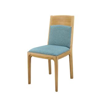 联邦轻时尚系列F15802FA软包餐椅(原木色)