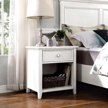 崧弘輕奢系列床頭柜(A款) M0261M001(白色)