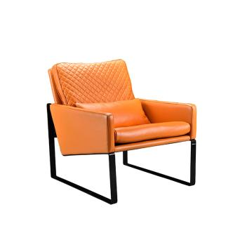 联邦轻时尚系列F15801FH金属脚休闲单椅(单人位)