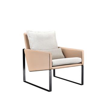 联邦轻时尚系列F15801FH-1金属脚现代休闲椅(单人位)