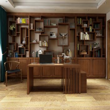 至爱智家 书房书桌柜组合 多层?#30340;?#20840;屋定制