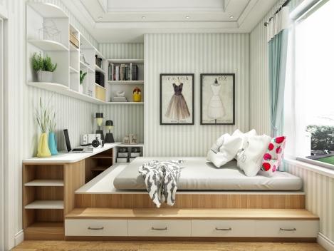 至爱智家  卧室榻榻米 多层实木全屋定制
