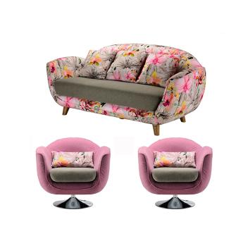 联邦轻时尚系列F15806FA(1+1+3)花瓣沙发(组合)