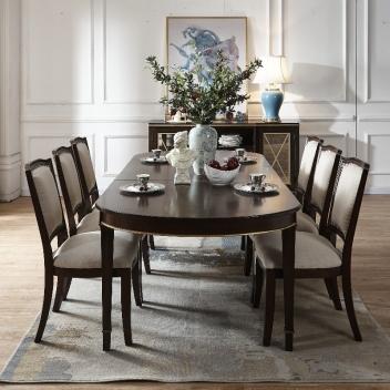 崧弘轻奢系列餐椅M2245(新古典棕)