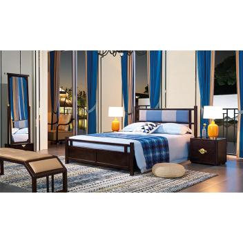 苏园 新中式床头柜8601