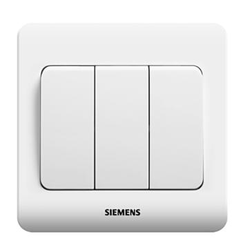 西门子远景系列三位单控大跷板开关(无荧光指示)5TA02311CC1雅白
