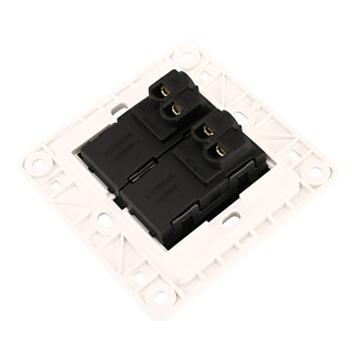 西门子 映彩系列 二位单控大跷板开关 带荧光指示 5TA82223NC08 灯墨黑