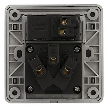 西门子 映彩系列 一位带单控开关三极插座 10A 5UB82833NC08 灯墨黑