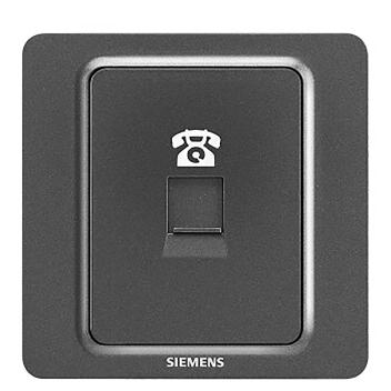 西门子 映彩系列 一位电话插座 5UH82613NC08 灯墨黑