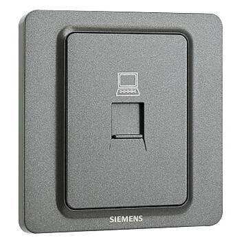 西门子映彩系列一位电脑插座(超5类)5UH82623NC08灯墨黑