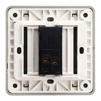 西门子映彩系列一位单控大跷板开关(带荧光指示)5TA82123NC09月石灰