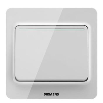 西门子映彩系列一位双控大跷板开关(带荧光指示)5TA82143NC09月石灰