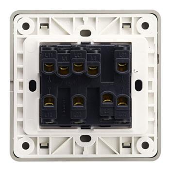 西门子映彩系列三位双控大跷板开关(带荧光指示)5TA82343NC09月石灰