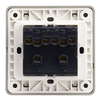 西门子映彩系列四位单控大跷板开关(无荧光指示)5TA82413NC09月石灰
