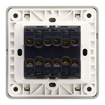 西门子映彩系列四位双控大跷板开关(无荧光指示)5TA82433NC09月石灰