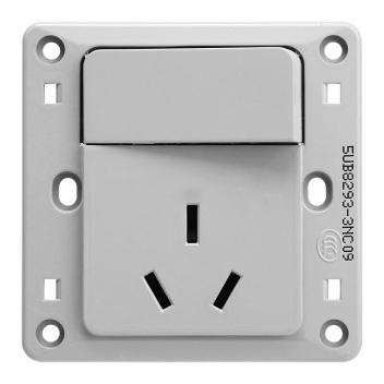 西门子映彩系列一位带单控开关16A三极插座5UB82933NC09月石灰
