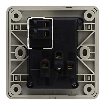 西门子映彩系列10A联体二三极插座带开关5UB82843NC09月石灰