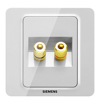 西门子映彩系列双接线柱音响插座5UH82813NC09月石灰