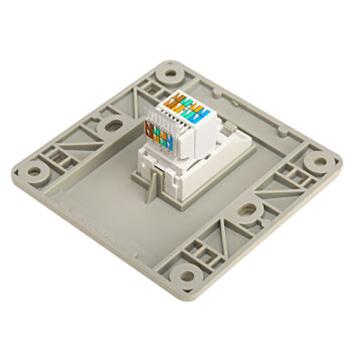 西门子映彩系列一位电脑插座(超5类)5UH82623NC09月石灰