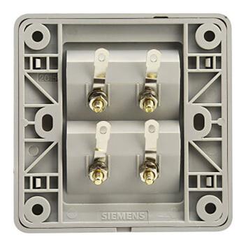 西门子映彩系列四接线柱音响插座5UH82823NC09月石灰