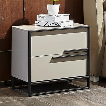 艾沃意式極簡床頭柜CG005(白色)