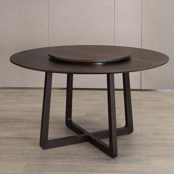艾沃意式极简木面圆餐桌EOMZ-13(不含转盘)