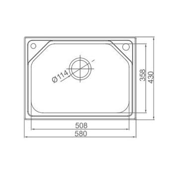 聪信304不锈钢拉伸水槽CX-V20