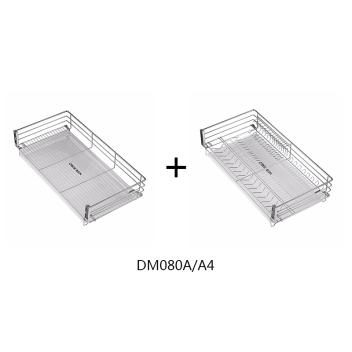 聪信800柜 三边平网篮+三边碗碟篮(DM080A/A4)