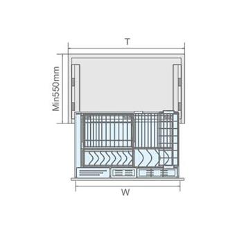 聪信碗碟篮 CX11802一W(800柜适用)