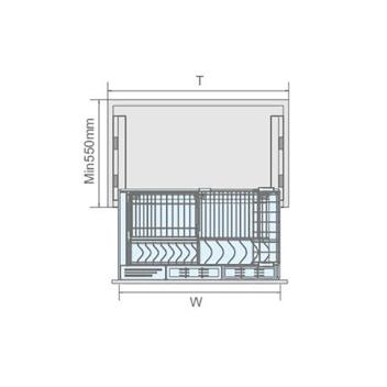 聪信碗碟篮 CX11902一W(900柜适用)