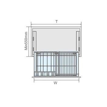 聪信柜锅具篮 CX11903一W(900柜适用)