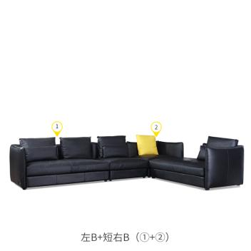 丽星城市客厅系列 皮沙发2Y876