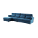 优梵艺术 pauline珀琳 双靠包储物沙发 左转角大组合沙发 830603 蓝色