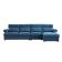 优梵艺术 pauline珀琳 双靠包储物沙发 右转角大组合沙发 830604 蓝色