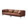 优梵艺术 Morris莫里斯 意式皮艺款折包 四人位沙发 340114Z 棕色