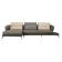 优梵艺术 Morris莫里斯 意式U?#22836;?#25163; 左转角小组合沙发 357011 棕色