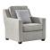 优梵艺术 Barlow巴洛系列现代美式简约软包灰色沙发 单人位 157118