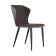 优梵艺术 Sicilia西西里意式简约无扶手弯背布绒餐椅 395030-2 白色 2张